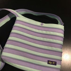 🌼2 FOR 10🌼 Zip-It Purse lavender and mint